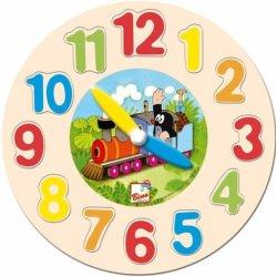 """Medinė dėlionė-laikrodis """"Mažasis kurmiukas"""" 3+"""