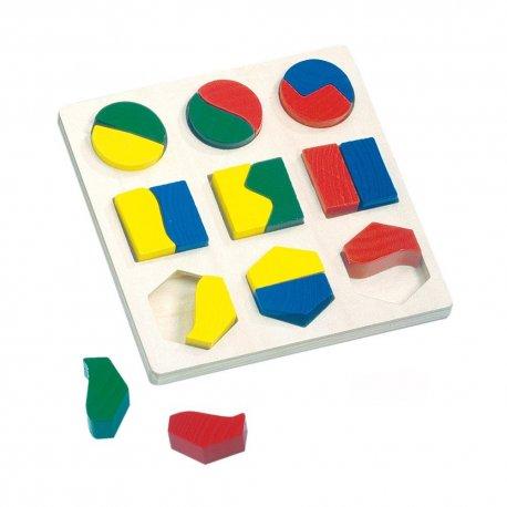Medinė geometrinių formų dėlionė, 2+
