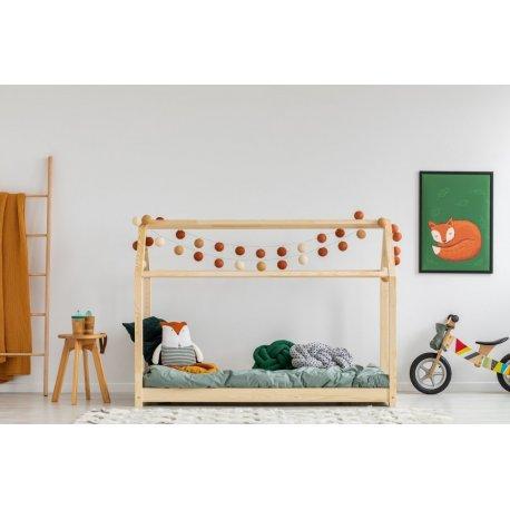 Medinė vaikiška lova - namas