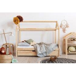 Medinė lova - namas su stalčiumi