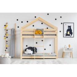 Dviaukštė vaikiška lova - namas
