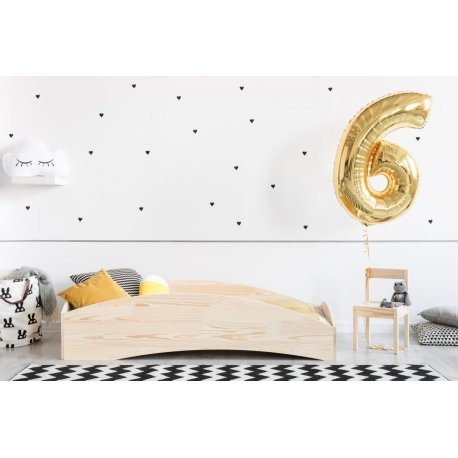 Medinė vaikiška lova su sienelėmis