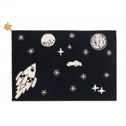 """Tamsios spalvos vaikiškas kilimas - """"Visata"""""""