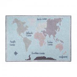 """Skalbiamas kilimas - """"Vintažinis žemėlapis"""""""
