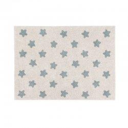 Šviesus kilimas su mėlynomis žvaigždelėmis 120x160