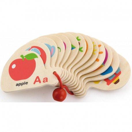 Edukaciniai žaislai raidelės ir paveikslėliai