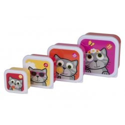 """Tum Tum užkandžių dėžučių rinkinys """"Kačiukai"""" 4 vnt"""