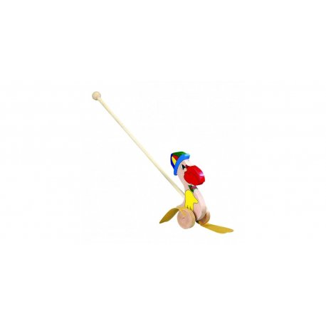 """Medinis vaikiškas stumdukas """"Pelikanas"""""""