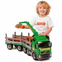 Žalias sunkvežimis su priedais