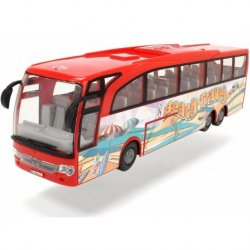 Raudonas vaikiškas autobusas
