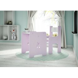 """Rožinis staliukas su kėdute - """"Meškutis"""""""