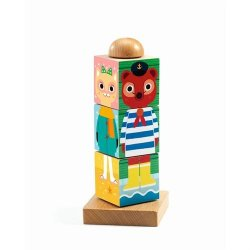 Medinis sukamasis bokštelis žaislas 2+