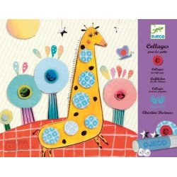 """Djeco kūrybinis rinkinys - koliažai mažiesiems """"Gyvūnai"""""""
