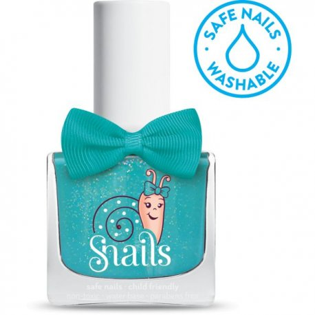 """SNAILS vaikiškas nuplaunamas nagų lakas """"Vandens purslai"""" 10,5ml"""