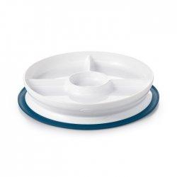 OXO mėlyna lėkštė prilimpančiu dugnu ir skyreliais