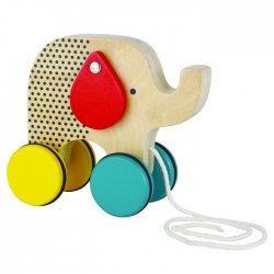 """Petit Collage traukiamas žaislas """"Drambliukas"""""""