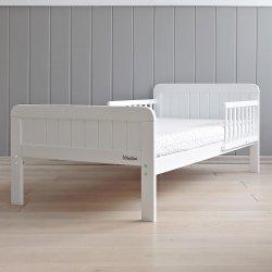 Viengulė vaikiška balta lova 140x70 cm