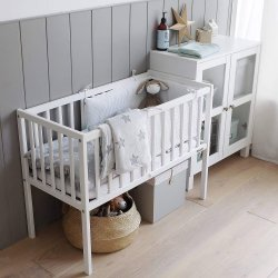 """Mini kūdikių lovytė - """"Crib white"""" 90x40 cm"""