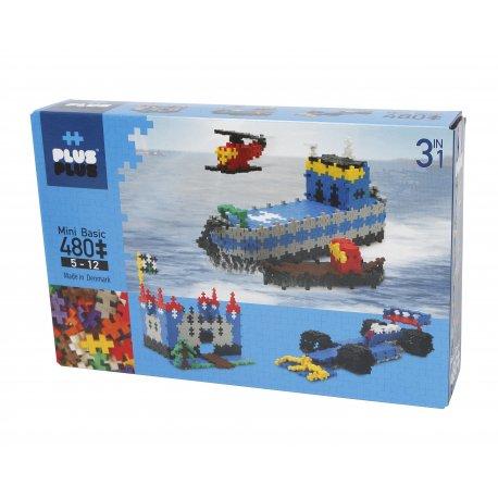 Mini PLUS PLUS rinkinys su 480 bazinių spalvų detalių