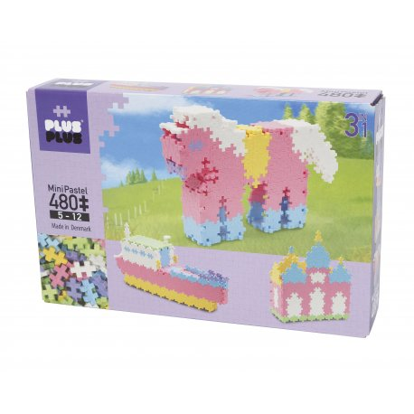 Mini PLUS PLUS rinkinys su 480 pastelinių spalvų detalių