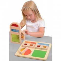 Edukacinis - sensorinis kaladėlių rinkinys