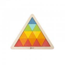 """Spalvinga kaladėlių dėlionė - """"Trikampis"""""""