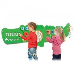 "Edukacinė - sensorinė lenta - ""Krokodilas"""