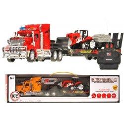 RC sunkvežimis su tralu ir traktoriumi