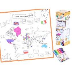 Nuplaunamas - spalvinimui skirtas žemėlapis