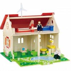 Medinis lėlių namelis su priedais