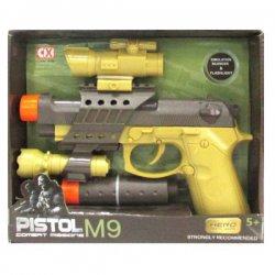 Vaikiškas pistoletas su priedais
