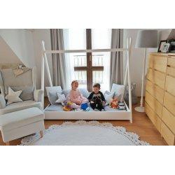 """Balta vaikiška lovytė - namelis """"Tipi"""""""