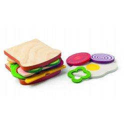 Vaikiškas medinis sumuštinio rinkinys