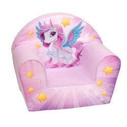 """Rožinis foteliukas - """"Šviečiantis ponis"""""""