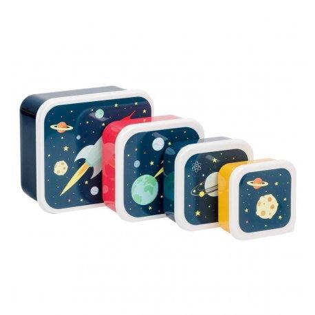 """Užkandžių dėžučių rinkinys """"Kosmosas"""" 4 vnt"""