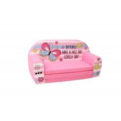 """Rožinė minkšta sofa - """"Drugelis"""""""