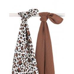 "Pledukų, vystyklų rinkinys "" Leopardas"" 2 vnt, 115 x 115 cm"