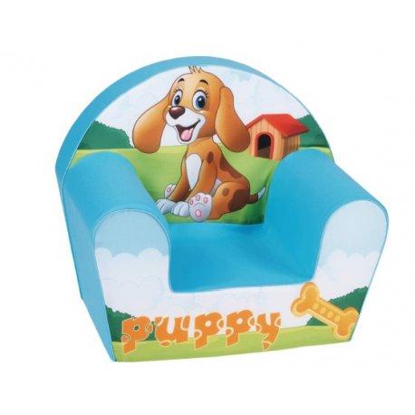 """Mėlynas foteliukas su šuniuku"""""""