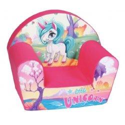 """Minkštas vaikiškas foteliukas """"Rožinis vienaragis"""""""
