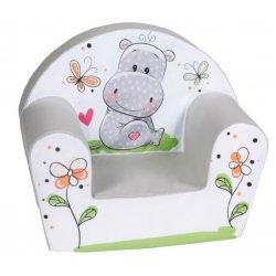 "Minkštas vaikiškas foteliukas ""Mielas begemotas"""