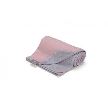 Vaikiškas plonas pledukas rožinis/pilkas 80 x 90 cm