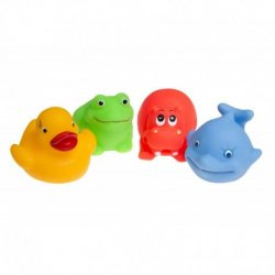 Vonios žaislai gyvūnėliai 4 vnt.