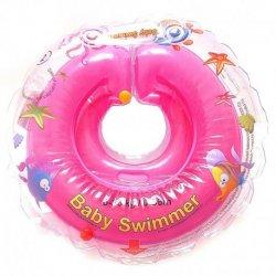 Rožinis plaukimo ratas kūdikiams 6-36 kg.