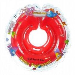 Raudonas plaukimo ratas kūdikiams 6-36 kg