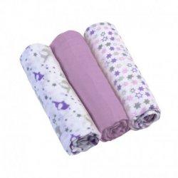 Violetiniai BabyOno medvilniniai vystyklai 3 vnt