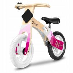 Medinis balansinis dviratukas - Willy, rožinis