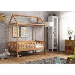 Buko spalvos viengulė lovytė - namas (3 dydžiai)