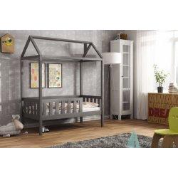 Tamsiai pilka viengulė lovytė - namas