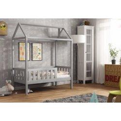 Šviesiai pilka viengulė lovytė - namas (3 dydžiai)