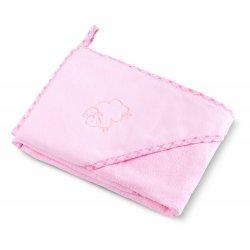"""Rožinis rankšluostis vaikams """"Avytė"""" 80 x 80 cm"""